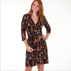 tracy Negoshian Cathy Wrap Dress NWT M